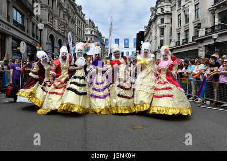 London, UK. 08th July, 2017. The drag queers during Pride In London on Saturday. Photo : Taka G Wu Credit: Taka - Stock Photo