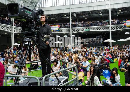 London, UK. 8th July, 2017. London Korean Festival in London Olympia. Matthew Ashmore/Alamy Live News - Stock Photo