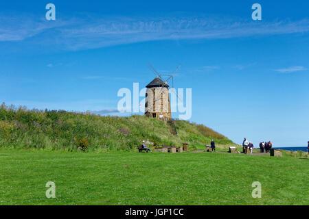 A windmill at St. Monans alond the Fife Coastal Path, Scotland - Stock Photo