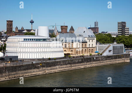 Chocolate museum on the Rhine, Cologne, North Rhine-Westphalia, Germany - Stock Photo