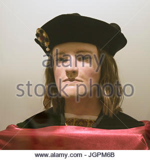 3D facial reconstruction of King Richard III face and head, King Richard III Visitor Centre Exhibition, Leicester, - Stock Photo