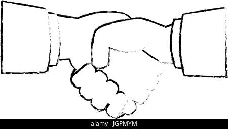 Diversity handshake symbol - Stock Photo