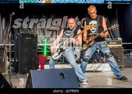 Legendary Punk Rock Band D.O.A rock the Khatsahlano Street Party, Kitsilano, Vancouver, British Columbia, Canada. - Stock Photo