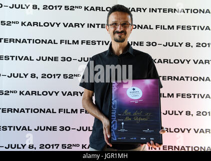 The special prize went to Men Don't Cry by Bosnian Alen Drljevic (left) about veterans of the war in Yugoslavia - Stock Photo