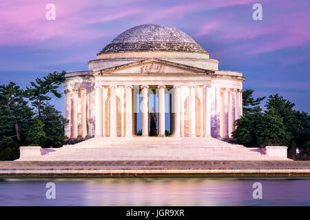 Jefferson Memorial in Washington DC. The Jefferson Memorial is a public building managed by the National Park Service - Stock Photo
