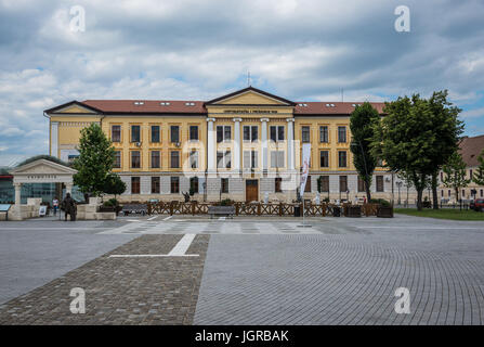 1 Decembrie 1918 University on University Park square in Alba Carolina Fortress in Alba Iulia city located in Alba - Stock Photo