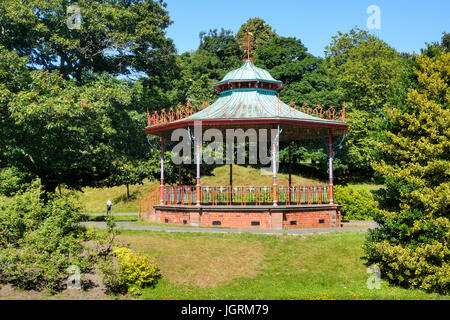 Sefton Park in Liverpool, a 235 acre  Grade 1 historic park and is a Green Flag and Green Heritage awarded site. - Stock Photo