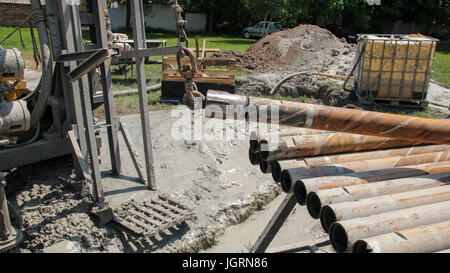 Drill Pipe on Drilling Rig - Stock Photo