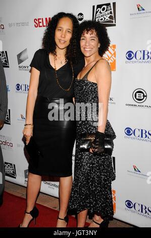 (L-R) Film director screenwriter Gina Pince-Bythewood Stephanie Allain attends 6th Annual AAFCA Awards Taglyan Cultural - Stock Photo