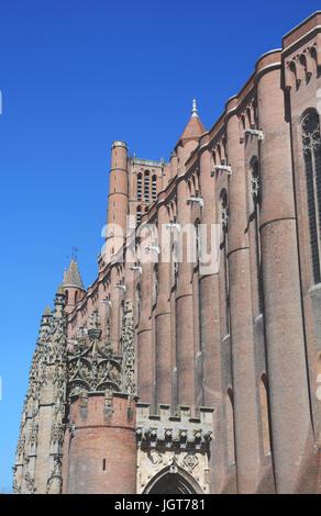 Sainte Cecile cathedral, Albi, Tarn, Occitanie, France - Stock Photo