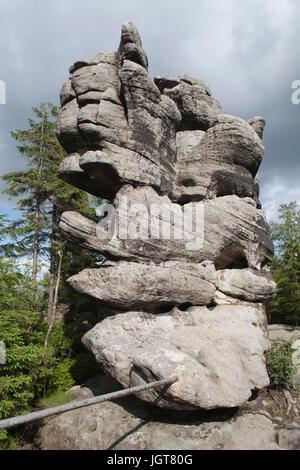 Stołowe Mountains/Table Mountains Poland. - Stock Photo