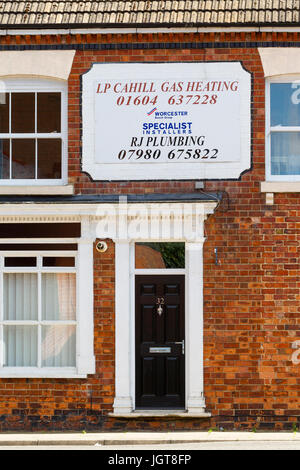 Signs selling and advertising in Northampton. - Stock Photo