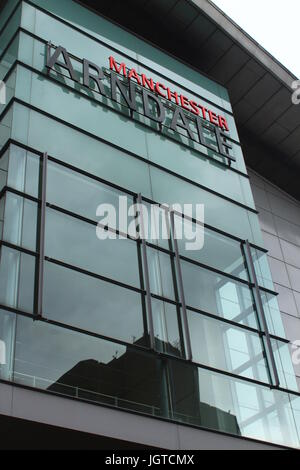 Manchester Arndale Shopping Centre - View of Exterior at Front of Main Entrance - Stock Photo