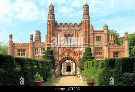 East Barsham Manor, Tudor Manor House, Norfolk, England, UK, built 1522, historic house, houses, manors - Stock Photo