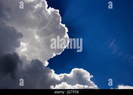 Every cloud has a silver lining - Stock Photo