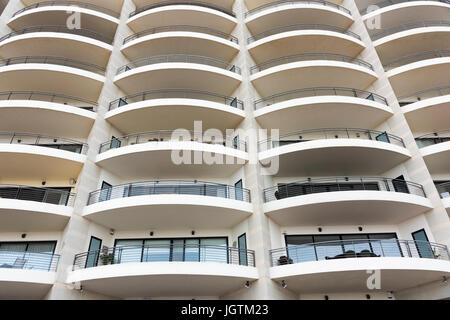 Balcony On Modern Apartment Block Stock Photo Royalty Free Image