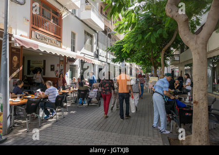 Gastronomy at the center of Arrecife, Lanzarote island, Canary islands, Spain, Europe - Stock Photo