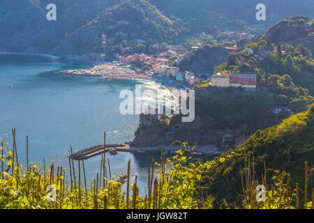 View of Monterosso Cinque Terre Liguria Italy. - Stock Photo