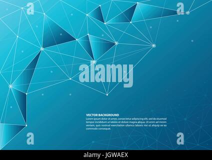 Abstract connection and network theme background - Stock Photo