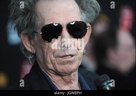 NEW YORK, NY - NOVEMBER 13: Keith Richards at 'The Rolling Stones Crossfire Hurricane' Premiere at Ziegfeld Theater - Stock Photo