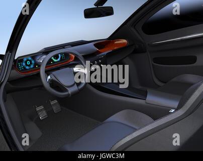 Autonomous car interior concept the center touch screen for M concept interior design