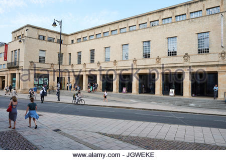The Sheldonian Theatre and Clarendon Building in Oxford - Stock Photo