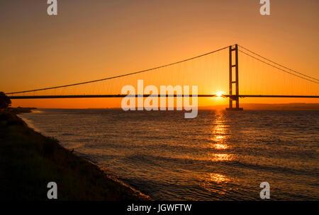 Humber Bridge Sunset - Stock Photo