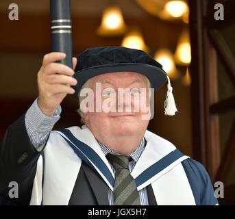 Edinburgh, UK. 11th Jul, 2017. Bake-Off judge installed as university chancellor and Hollywood film producer awarded - Stock Photo