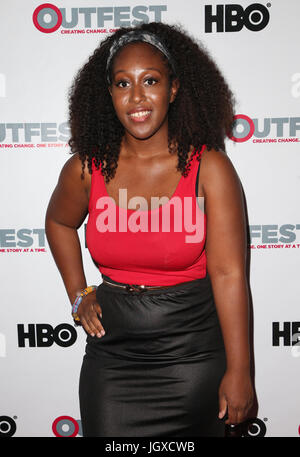 WEST HOLLYWOOD, CA July 11- Michelle Sam, At 2017 Outfest Los Angeles LGBT Film Festival Screening of 'Hello Again' - Stock Photo