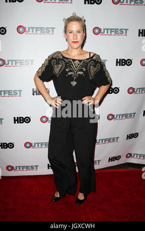 WEST HOLLYWOOD, CA July 11- Sissi Neumayr, At 2017 Outfest Los Angeles LGBT Film Festival Screening of 'Hello Again' - Stock Photo