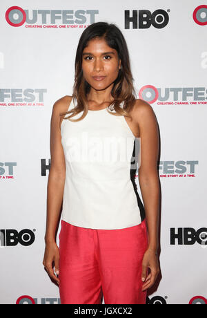 WEST HOLLYWOOD, CA July 11- Anisha Adusumilli, At 2017 Outfest Los Angeles LGBT Film Festival Screening of 'Hello - Stock Photo