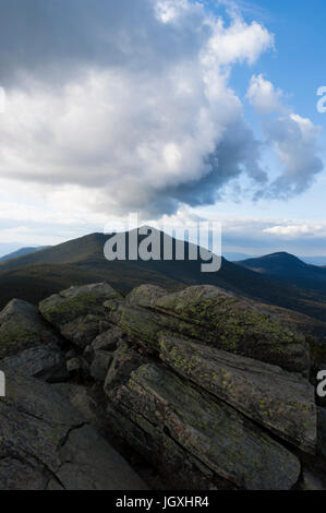 Franconia Ridge on the New Hampshire Appalachian Trail, viewed from Mt Liberty, with the peaks of Mt Lafayette and - Stock Photo