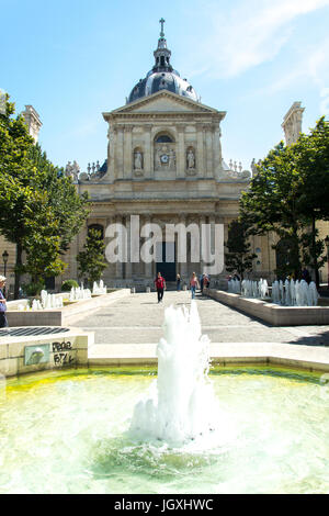 Church of the Sorbonne, Paris, France. Architect was Lemercier and built for Cardinal Richelieu who was the chancellor - Stock Photo
