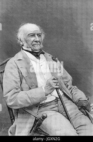 WILLIAM EWART GLADSTONE (1809-1898) British Liberal statesman shortly before his death - Stock Photo