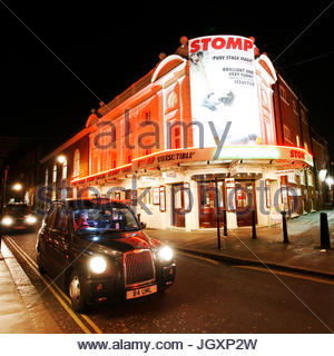 London , UK - December 11, 2012: Outside view of Ambassadors Theatre, West End theatre, located on West Street, - Stock Photo