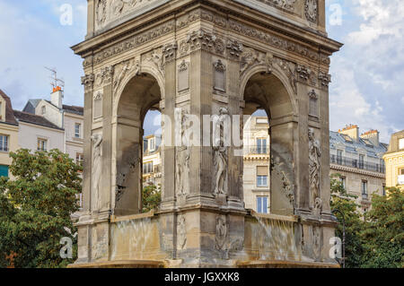 Fountain of Innocents is the oldest monumental fountain in Paris, France - Stock Photo