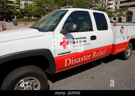 American Red Cross Disaster Relief vehicle - USA - Stock Photo
