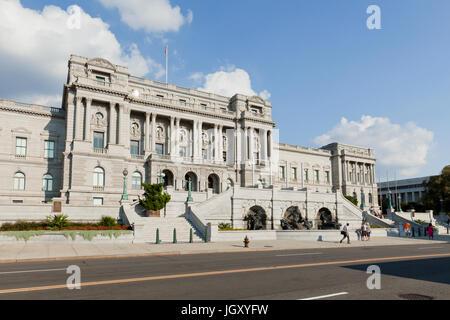 The Library of Congress building - Washington, DC USA - Stock Photo