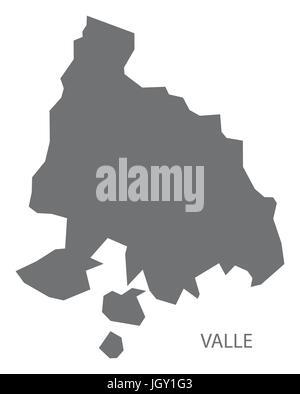 Valle Honduras map grey illustration silhouette - Stock Photo