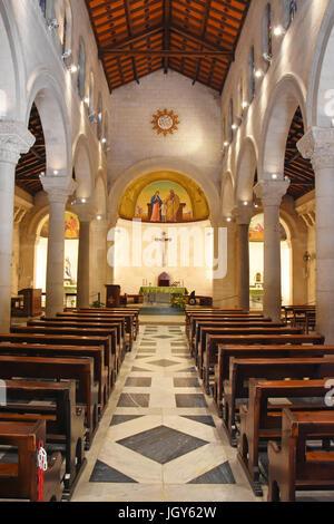 St. Joseph's Church in Nazareth, Israel - Stock Photo