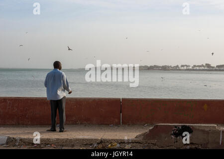View from N'Dar island, ˆ Saint Louis. Senegal. - Stock Photo