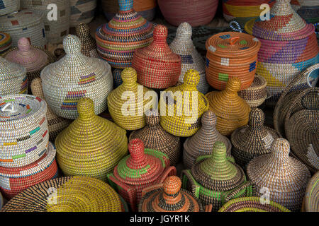 Handmade basket shop. Senegal. - Stock Photo