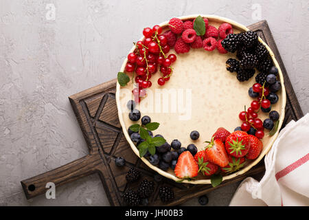 Fresh berries on a plate - Stock Photo