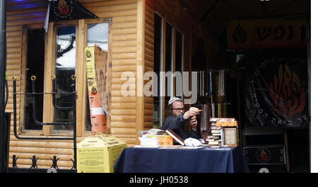 Jews in Uman, Ukraine - Stock Photo