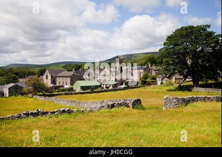 Askrigg village in Wensleydale, Yorkshire Dales. - Stock Photo