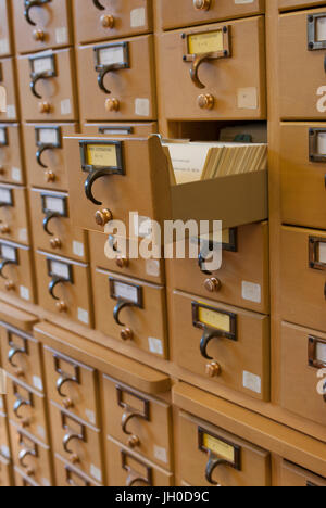 library index card drawer Stock Photo, Royalty Free Image ...