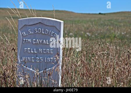 US Army 7th Cavalry burial site - Stock Photo