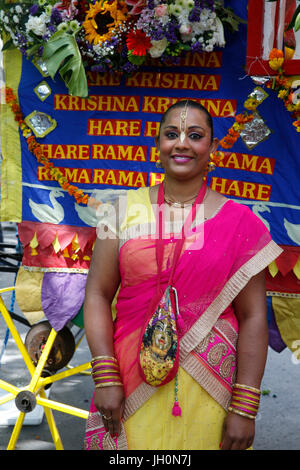 Ratha Yatra charriot festival in Paris. France. - Stock Photo