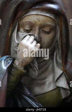 Marie-ClŽophas. Deploring Christ. Entombment. Moulins Cathedral Basilica. - Stock Photo