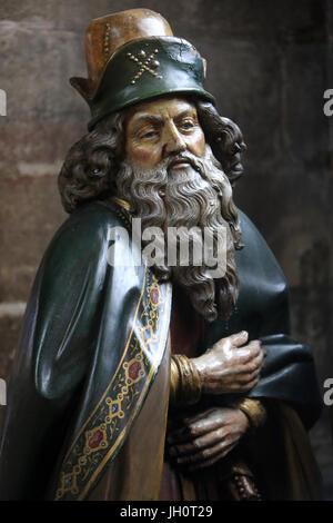 Nicodemus. Deploring Christ. Entombment. Moulins Cathedral Basilica. - Stock Photo